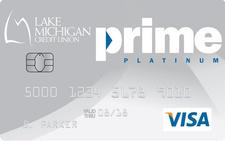Lake Michigan Credit Union Prime Platinum Visa Credit Card